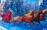 Поющие Дед Мороз и Снегурочка в Оренбурге